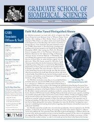 Summer2009 - The Graduate School of Biomedical Sciences ...