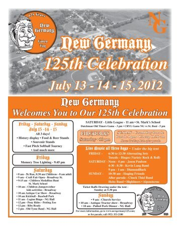 July 13 - 14 - 15, 2012 - newgermany125.com