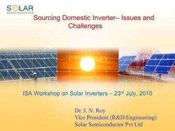 Sourcing Domestic Inverter– Issues and Challenges - india ...