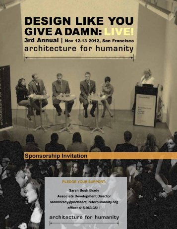 Sponsorship Invitation - Architecture for Humanity