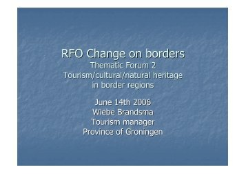 presentation - Change on Borders