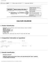 CALCIUM CHLORIDE - Bonded Materials Company