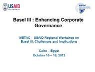 Basel III : Enhancing Corporate Governance - METAC