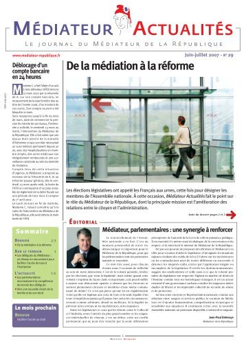 De la médiation à la réforme ( PDF - 1.1Mo ) - Le Défenseur des Droits