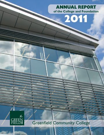annual report - Greenfield Community College - Massachusetts ...
