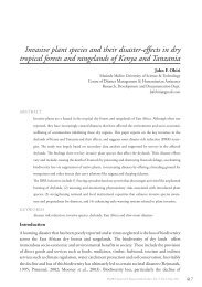 Invasive plant species and their disaster-effects in dry tropical forests ...