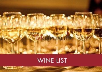 WINE LIST - Bapu Hospitality