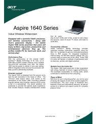 Aspire 1640 Series