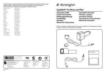 33429EU Kensington LiquidAUX for iPhone and iPod - Net