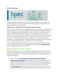 HPEC Newsletter - American Association of Community Colleges