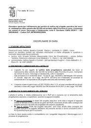 Disciplinare gara_incarico validazione verifica - Provincia di Lecco