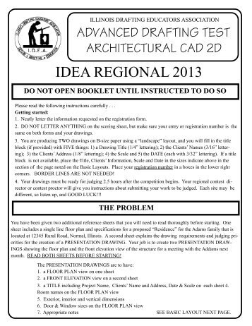 IDEA Reg Arch 2DCad Problem 2013