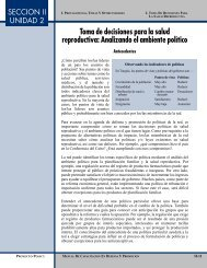 Toma de decisiones para la salud reproductiva - POLICY Project