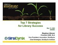 Top 7 Strategies for Library Success strong - Stephen's Lighthouse