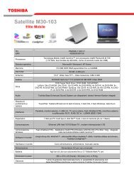 Satellite M30-103 - Toshiba