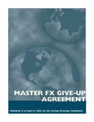 MASTER FX GIVE-UP AGREEMENT