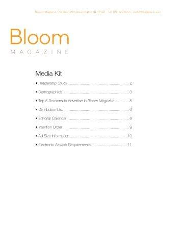 Download the Media Kit here. - Bloom Magazine