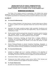 Guidelines for IIPA Membership - Indian Institute of Public ...