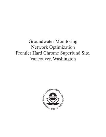 Groundwater Monitoring Network Optimization Frontier Hard Chrome