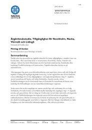 Åtgärdsvalsstudie, Tillgänglighet för Stockholm ... - Nacka kommun