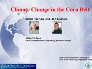 Climate Change in the Corn Belt - Bioeconomy Conference 2009