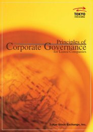 Principles of Corporate Governance for Listed Companies