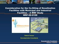 Consideration for the Co-Siting of Desalination Facilities with