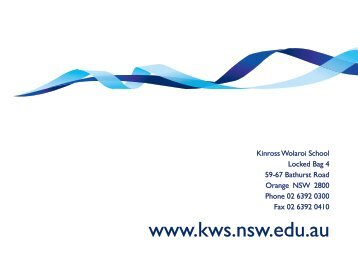 Academic Achievements by our 2009 Graduates - Kinross Wolaroi ...