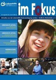 Aktuelle Ausgabe (Juni 2013) - Lebenshilfe LD Süw