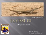 ESA ISSUES: A Legislative Focus - WESTCAS