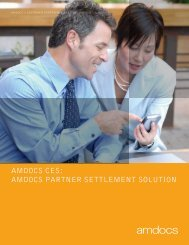 AMDOCS CES: AMDOCS PARTNER SETTLEMENT SOLUTION