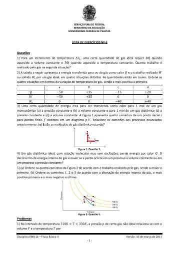 Lista de Exercícios Nº 6 - Chasqueweb.ufrgs.br