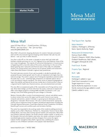 Market Profile - Macerich