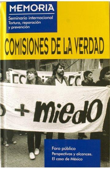 comisiones de la verdad final - Comisión de Derechos Humanos del ...
