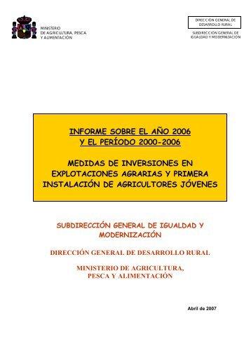 MAPA. Datos de Modernización 2006. - Coag