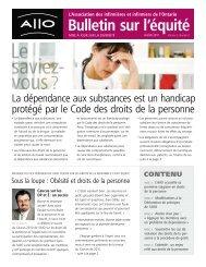 Bulletin de l'AIIO sur l'équité - hiver 2011 - Ontario Nurses' Association