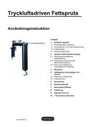 Tryckluftsdriven Fettspruta - Pressol