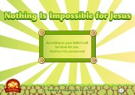 Nothing Is Impossible for Jesus - TFI Online