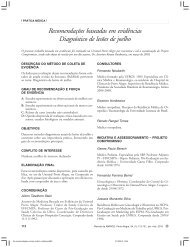 Recomendações baseadas em evidências Diagnóstico de lesões ...