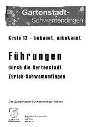 Planen und Bauen für die Stadt von Morgen ... - Stadt Zürich