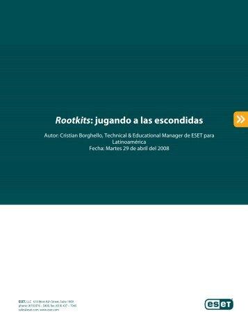 Rootkits: jugando a las escondidas - Eset