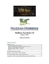 Malifaux Newsletter #2 - NOVA Open
