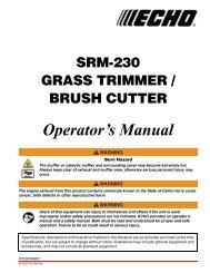 Grass Trimmer/Brush Cutter - Echo Inc.