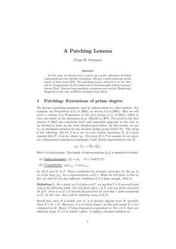 A Patching Lemma