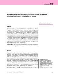Autonomia versus heteronomia: impactos da tecnologia ...