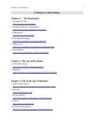 F2 History Useful Websites Chapter 1 - Www2.hkedcity.net
