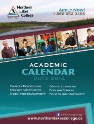 NLC Calendar (PDF) - Northern Lakes College