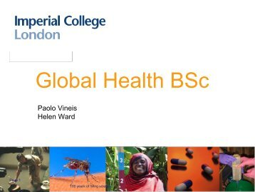 Presentation on the BSc Global Health - Imperial College London