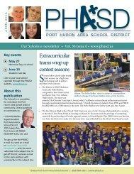 April 2012 - Port Huron Area Schools