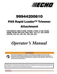 99944200610 Operator's Manual - Echo Inc.
